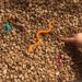 speech therapy at home to get toddler talking with sensory bin