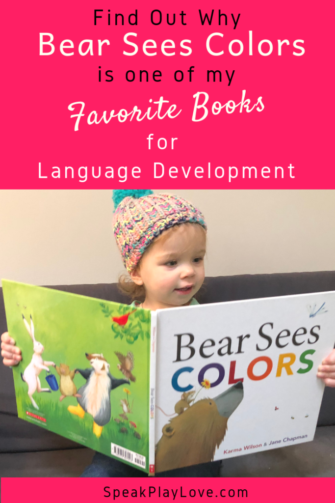 Fun book to increase language development in toddlers and preschoolers. #speakplaylove #preschoolbooks #toddlerbooks #speechtherapy #toddleractivities #preschoolactivities #speechtherapyactivities #kidlit #languagedevelopment #earlylearning