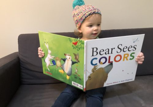 Using Bear Sees Colors in speech therapy at home