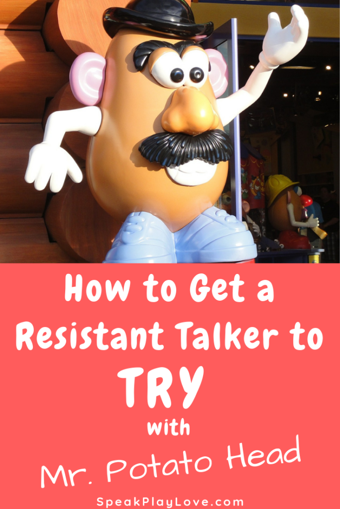 get toddler talking with Mr potato head image