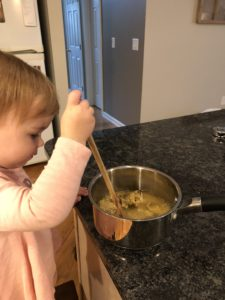 Cooking with kids for increasing language development