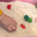 christmas sensory bin close up