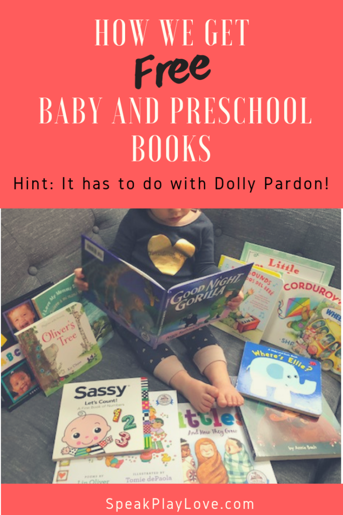 We love getting our baby, toddler and preschool books in the mail - Find out if your area participates in this great literacy program! #speakplaylove #toddlerbooks #preschoolbooks #earlyliteracy #kidlit #picturebooks #earlylearning #speechtherapy