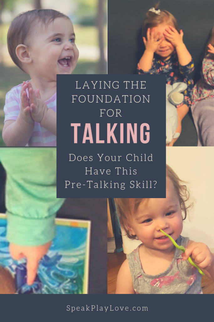 Get your toddler to talk by encouraging language development in babies and toddlers. #speakplaylove #earlylearning #toddleractivities #languagedevelopment #speechtherapy