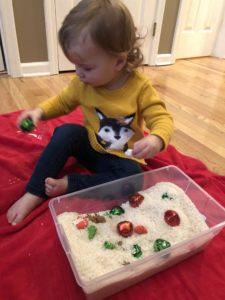 Toddler Sensory Bin Christmas