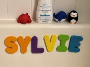 foam bath letters for early literacy activity