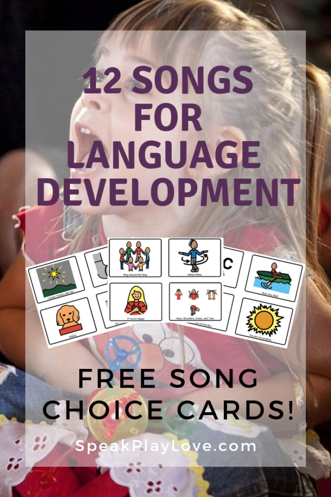 Songs for Language Development Pin