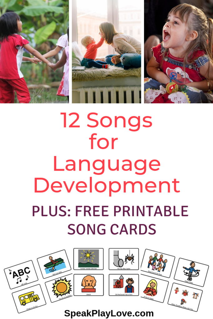 image of best songs for language development pin for pinterest