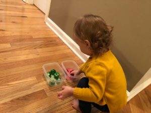 jingle bell sorting activity