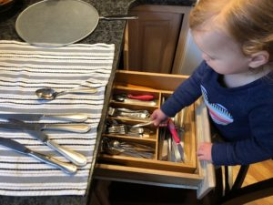 silverware sorting toddler activity chores