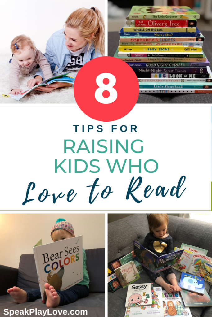 Early literacy tips to learn how to raise a reader starting from infancy. #speakplaylove#earlyliteracy #kidlit #babybooks #languagedevelopment