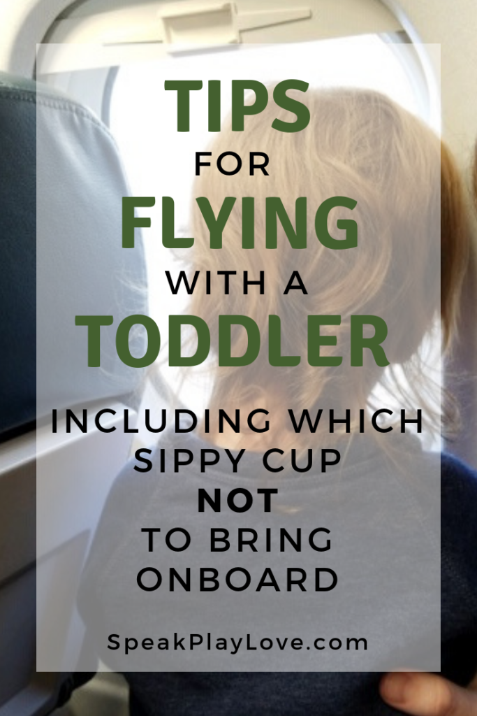 image of toddler in lap on plane