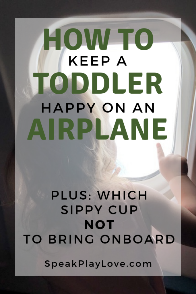 How to keep a toddler entertained on a plane