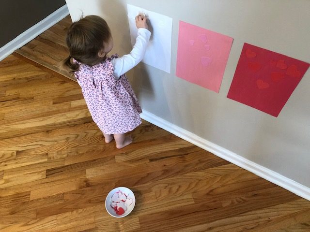 sticker sort Valentine's Day Activity for Toddlers