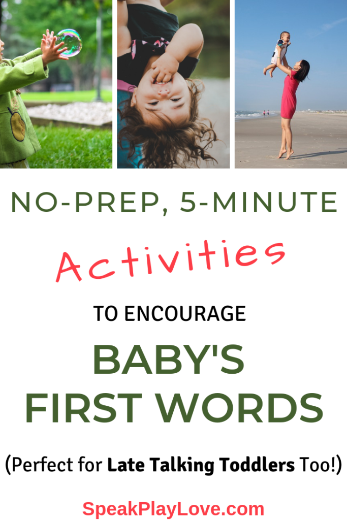 pin for activities to get baby to talk