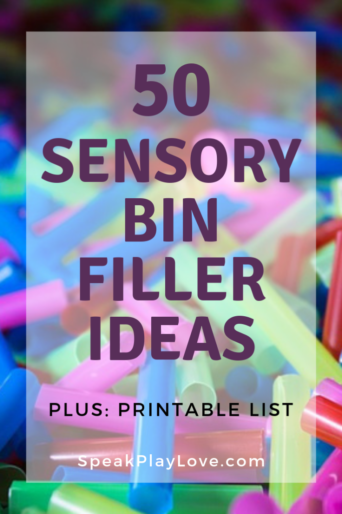 cut straws sensory bin filler idea pin image