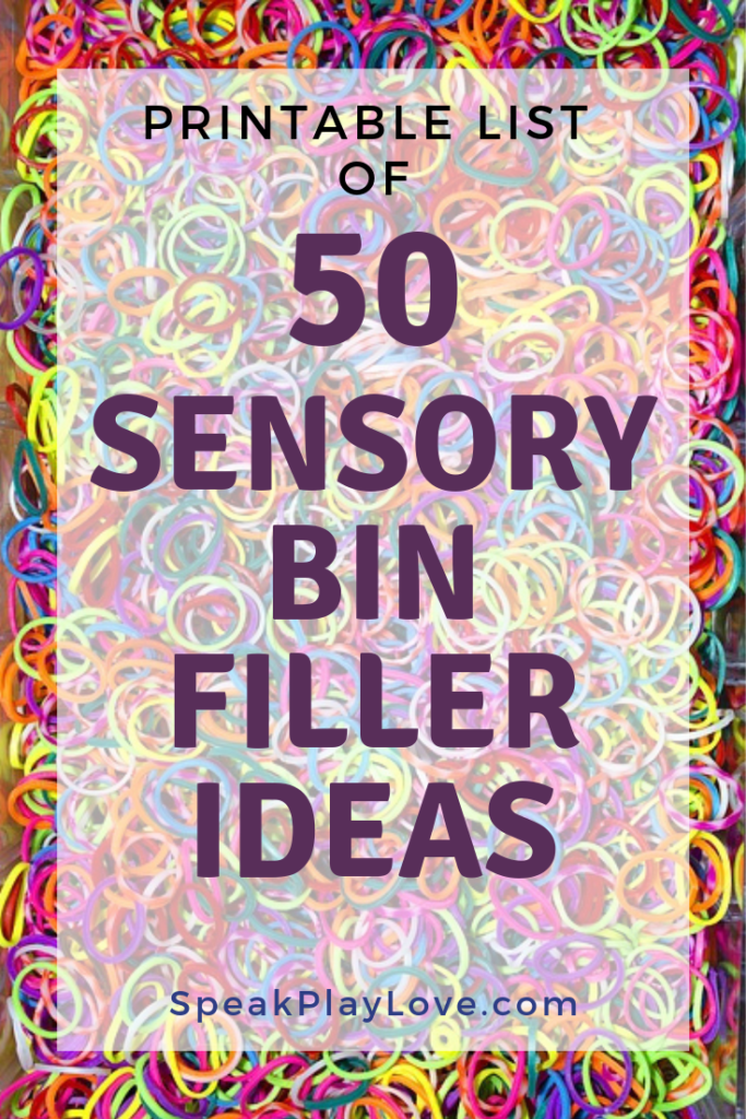 What to put in a sensory bin Pin image