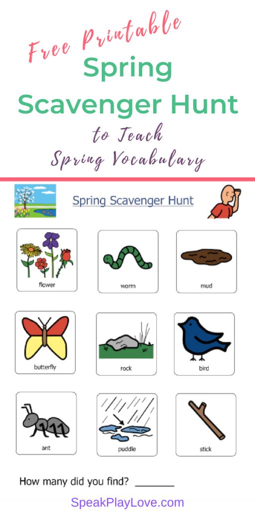 Image of spring vocabulary worksheet Pin