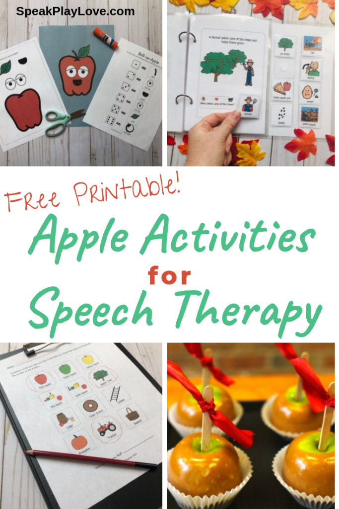 pin for Apple Activities for Speech Therapy