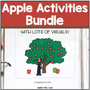apple activities for speech therapy