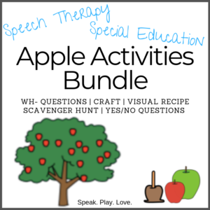Apple activities speech therapy bundle