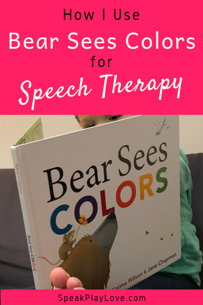 Bear Sees Colors for speech therapy Pin