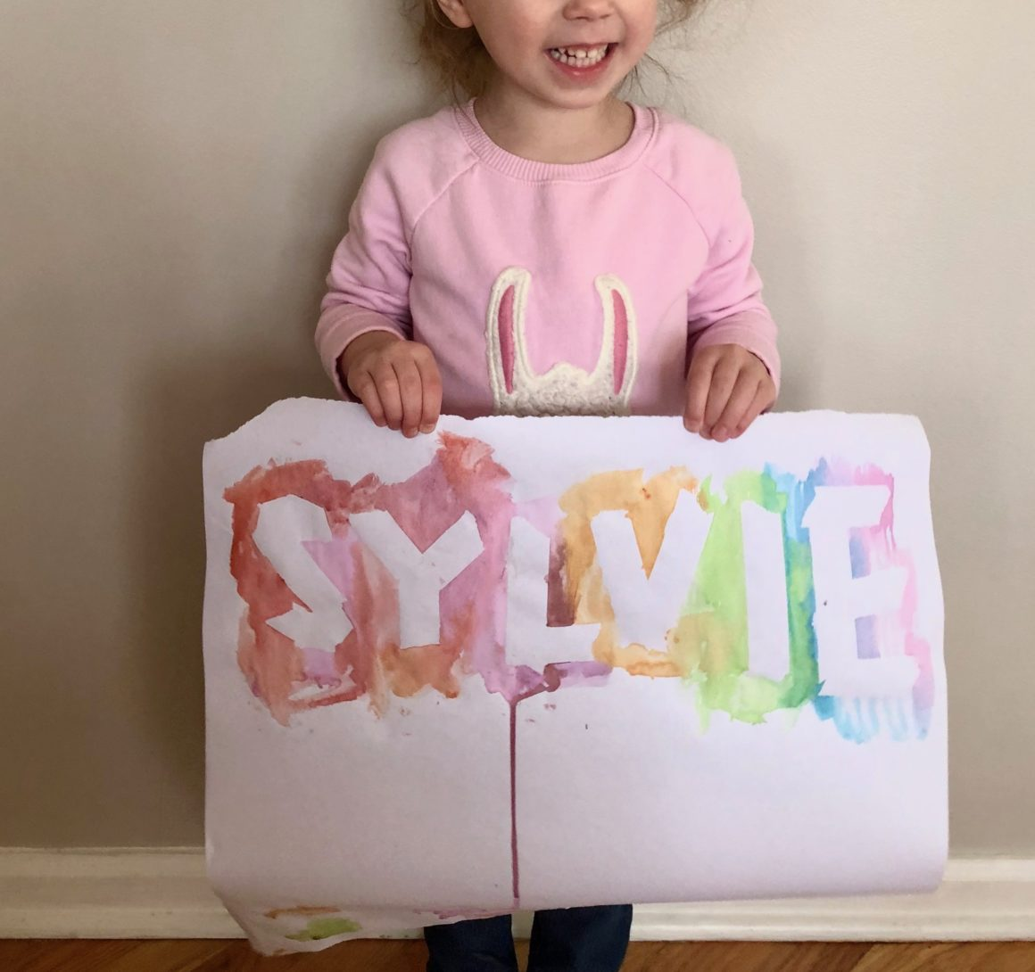 homeschool preschool art project
