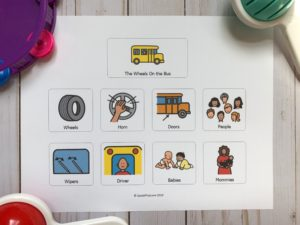 picture of interactive songs visual for speech therapy