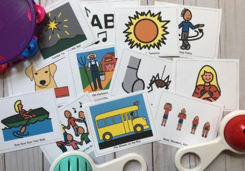 picture of interactive songs for speech therapy