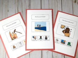 Summer WH questions for speech therapy