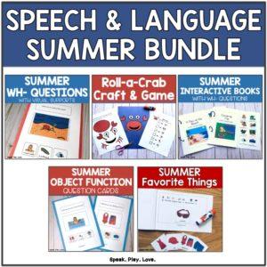 summer speech therapy bundle