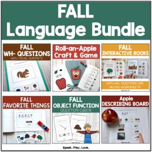 bundle of fall speech and language activities