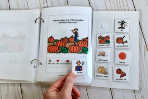 picture of pumpkin interactive book