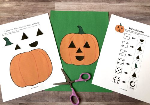 Picture of pumpkin craft for speech therapy